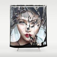 broken Shower Curtains featuring BROKEN by ozlem koc