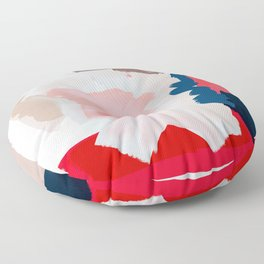 Red expression Floor Pillow