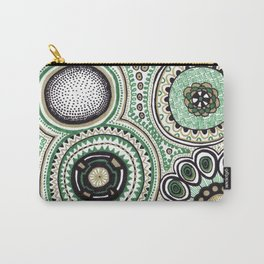 Green and Gold Rings Carry-All Pouch