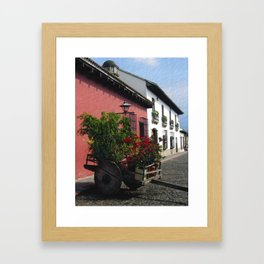 Flower Wagon at Old Antigua, Guatemala Framed Art Print