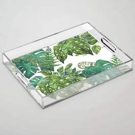 A Pattern of Plants Acrylic Tray