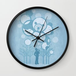 Don't Burst the Bubble Wall Clock
