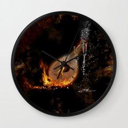 Music, lute Wall Clock