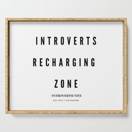 Introverts Recharging Zone Serving Tray