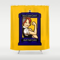 amy pond Shower Curtains featuring Amy Can! by Shana-Lee