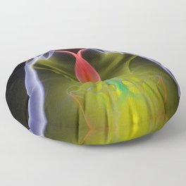 9174 Smoke and Mirrors Reveal Feminine Flow of Energy in Free Space Floor Pillow