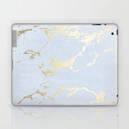 Kintsugi Ceramic Gold on Sky Blue Laptop & iPad Skin