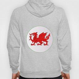 Welsh Dragon Button Hoody