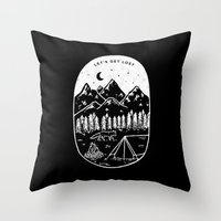 Let's Get Lost III Throw Pillow