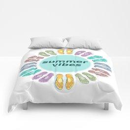 Summer vibes in flip flops Comforters