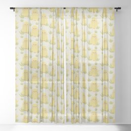 Amazing Easter Bunnies Design Sheer Curtain