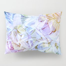 Soft Rainbow Floral Abstract Pillow Sham