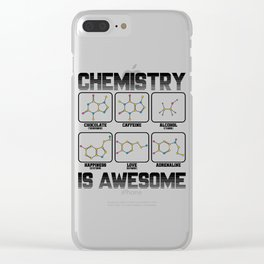 Chemistry Caffeine Alcohol Love Molecule Gift Clear iPhone Case