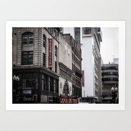 Dim Sum, downtown Boston, New England, Architecture, Chinatown Art Print
