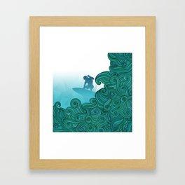 Surfer Dude Hangin Ten Framed Art Print