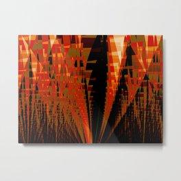Citadel Abstract Fractal Art Metal Print
