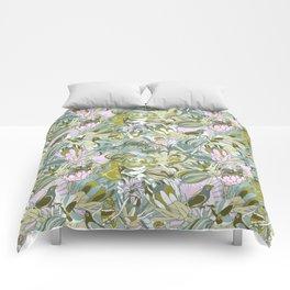 Tropical paradise | Grayish Turquoise Comforters