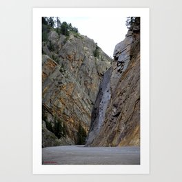 Gateway to the Uncompahgre Gorge - Around this Curve is a Frightening Road Art Print