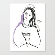 Mary - Girl in Marker and Gouache Canvas Print