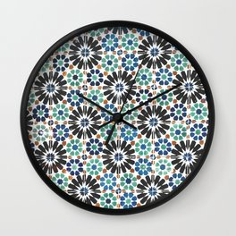 Arabic Tiles in Lisbon Portugal Wall Clock