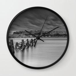 Dramatic Skies Over Cardiff Bay Wall Clock