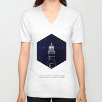 lighthouse V-neck T-shirts featuring Lighthouse by Mehdi Elkorchi