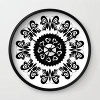 butterflies Wall Clocks featuring Butterflies by BWartwork