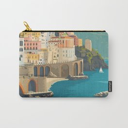 Vintage Italy Amalfi Coast Travel Poster Carry-All Pouch