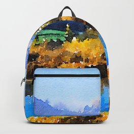 Mountain Watercolor Backpack