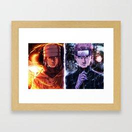 NARUTO AND SASUKE Framed Art Print