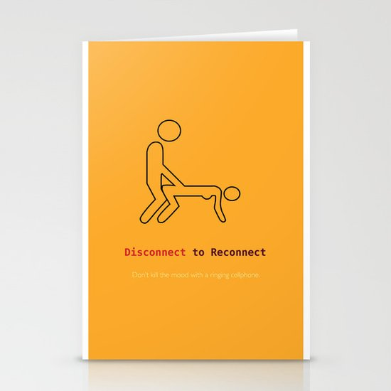 Disconnect to Reconnect Stationery Cards