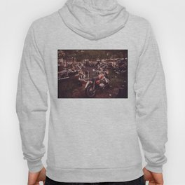 Parked Motorcycles Vintage Photograph Hoody