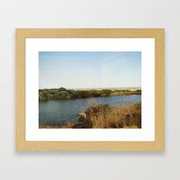 The pond by the Ocean Framed Art Print