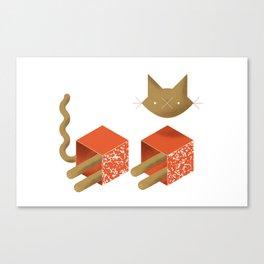 Catstructivism, or Schrodinger's Cat Canvas Print