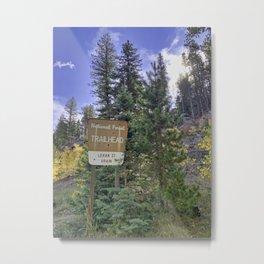National Forest Trailhead  Metal Print