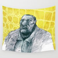 gangster Wall Tapestries featuring real gangster by jenapaul