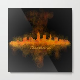 Cleveland City Skyline Hq V4 Metal Print