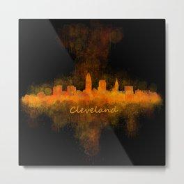 Cleveland City Skyline Hq V4 Metal Print