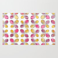 flower pattern Area & Throw Rugs featuring flower pattern by VessDSign