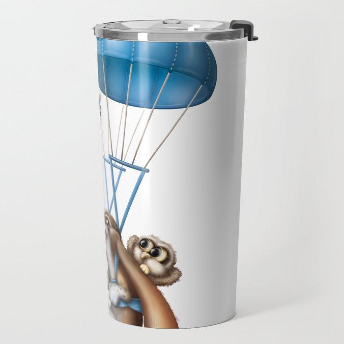 Flying basset Travel Mug