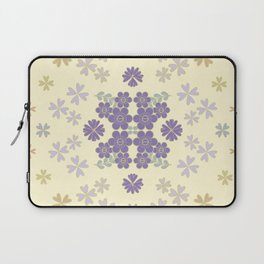 The pattern with the image of flowers gently pastel shades and botanical elements. Minimalistic desi Laptop Sleeve