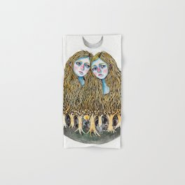 Goblin Market - illustration of poem by Christina Rossetti Hand & Bath Towel