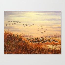 Goose Hunting Companions Canvas Print