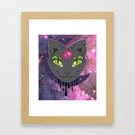 Hex Cat Framed Art Print