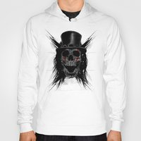 hat Hoodies featuring Skull Hat by Fathi