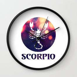 Scorpio Astrological Sign Wall Clock