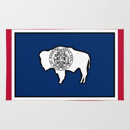 Wyoming State Flag Rug
