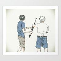 Pass The Gun Art Print