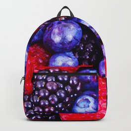 Colorful Berrie Fruits Close Up - Oil painting Backpack