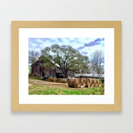 Missouri farm Framed Art Print